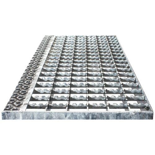 Euroline Stufenbelag Alu-Gitterrost für 600mm Stufenbreite