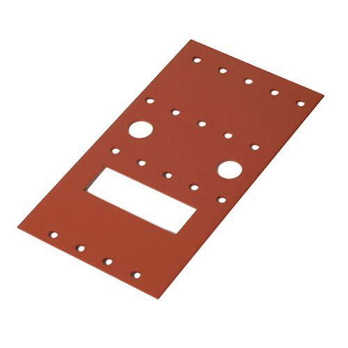 Topleiter Sicherheitsplatte für Dachhaken-Montage am Ortgang, rot