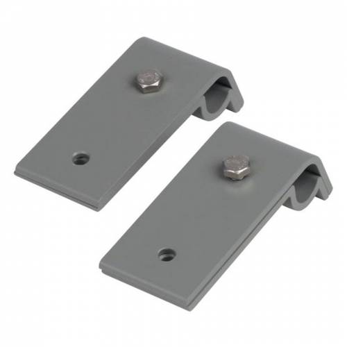 Topleiter Dachrinnenhalter für Anlegeleiter 2er-Set, grau