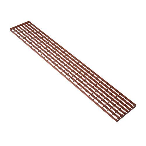 Topleiter Laufrost, Trittrost 150x25cm, rot