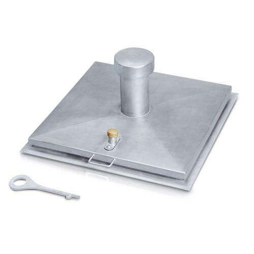 Zarges Brunnenabdeckung in eckiger Form aus Edelstahl mit Isolierung 1000 mm x 1000 mm