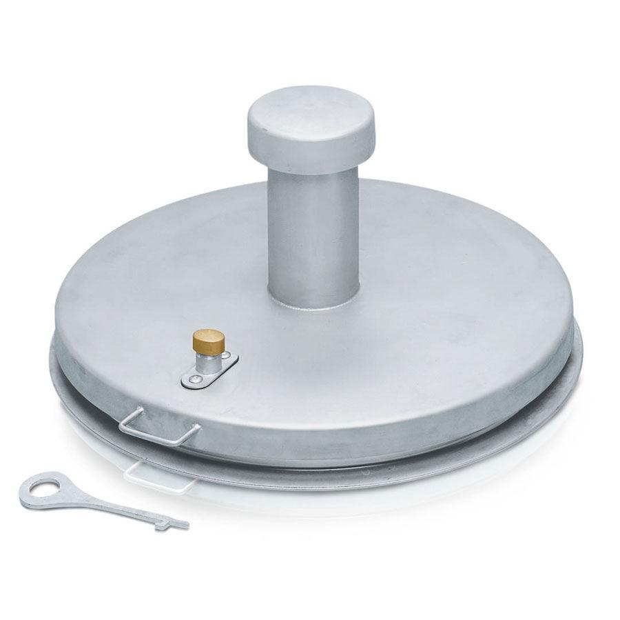 Zarges Brunnenabdeckung in runder Form aus Edelstahl mit Isolierung Durchmesser 1000 mm