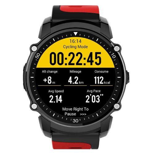 Kingwear FS08 1.26 GPS IP68 Smartwatch - Rot (Internationales Modell / Englisch)