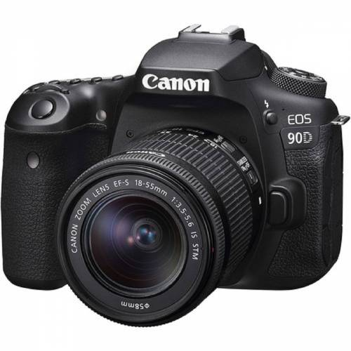 Canon EOS 90D Kit mit 18-55mm IS STM Objektiv Digital SLR Kamera