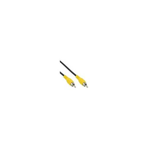 InLine Cinch Kabel, Video, 1x Cinch Stecker / Stecker, Steckerfarbe gelb, 5m