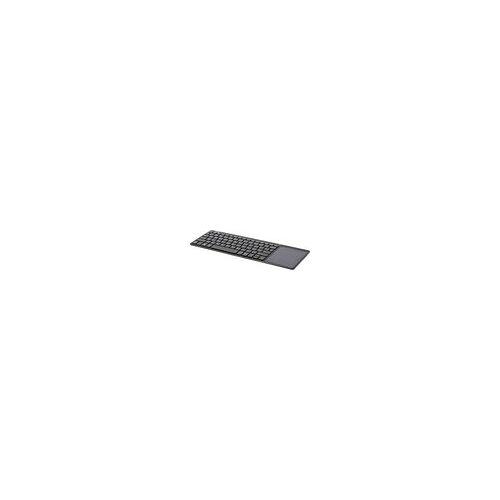 InLine Wireless Aluminium Slim-Tastatur mit Touchpad, 2,4GHz, schwarz