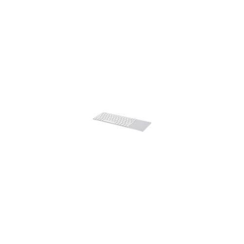 InLine Wireless Aluminium Slim-Tastatur mit Touchpad, 2,4GHz, silber/weiß