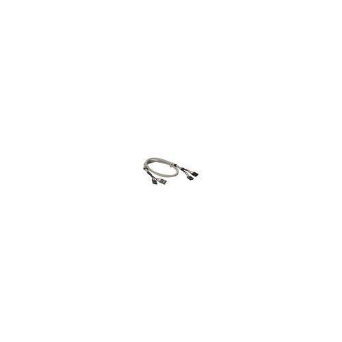 InLine USB 2.0 Verlängerung, intern, 2x 4pol Pfostenstecker auf Pfostenbuchse, 0,6m
