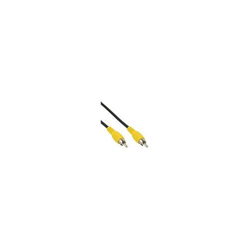 InLine Cinch Kabel, Video, 1x Cinch Stecker / Stecker, Steckerfarbe gelb, 2m
