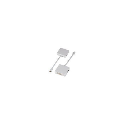 Netzwerkartikel.de Mini DisplayPort 3-fach Adapter, weiß auf HDMI+DVI+Displayport Adapter
