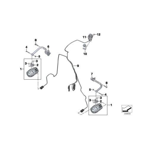 BMW Motorrad BMW Halter Zusatzscheinwerfer links