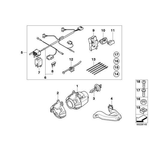 BMW Motorrad Satz Anbauteile für Zusatzscheinwerfer