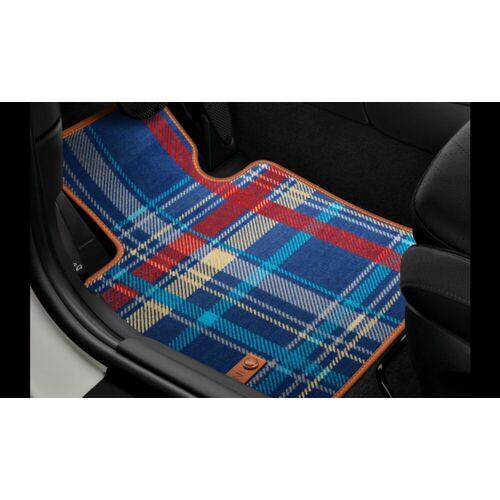 MINI Allwetter Fußmatten Gummimatten Speedwell-Blue hinten für MINI F55