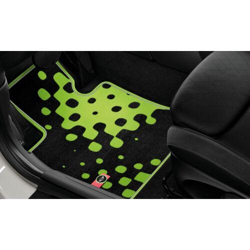 MINI Allwetter Fußmatten Gummimatten Vivid-Green hinten für MINI F55
