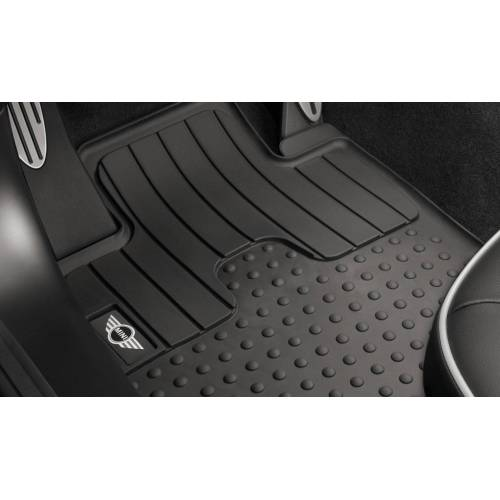 MINI Allwetter Fußmatten Gummimatten vorne mit MINI Logo R55 R56 R57 R58 R59 ab 08/2011
