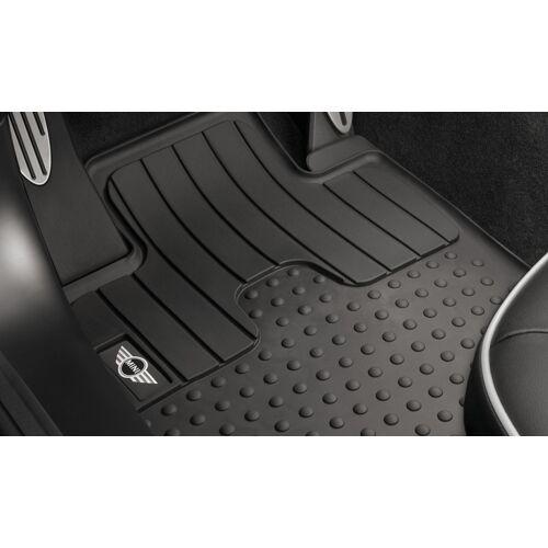 MINI Allwetter Fußmatten Gummimatten vorne mit MINI Logo für R55 R56 R57 R58 R59 bis 08/2011