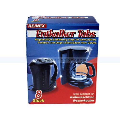 Reinex Entkalker Reinex Entkalker-Tabs 8 x 16 g geeignet für Kaffeemaschinen und Wasserkocher