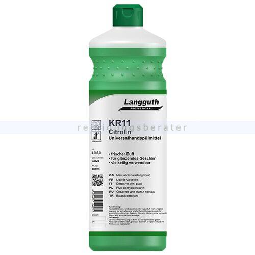 Langguth Spülmittel Konzentrat Langguth KR11 Citrolin 1 L Handspülmittelkonzentrat