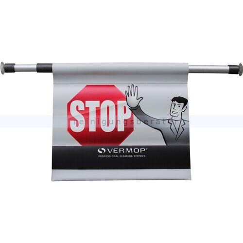 Vermop Warnschild Vermop, Hängewarnschild mit STOP bedruckt