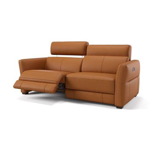 sofanella Designer Relaxsofa NOVARA 3-Sitzer Ledersofa