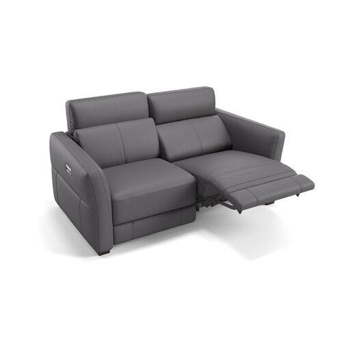 sofanella Ledersofa 2-Sitzer NOVARA Relaxfunktion Leder Sofa Couch