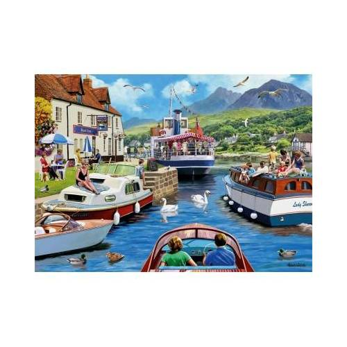 Falcon Kevin Walsh - A Day on The River 1000 Teile Puzzle Jumbo-11241