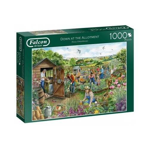 Falcon Down at The Allotment 1000 Teile Puzzle Jumbo-11265
