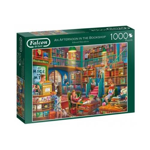 Falcon An Afternoon in The Bookshop 1000 Teile Puzzle Jumbo-11267