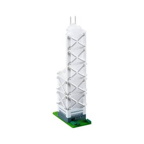 Brixies Nano 3D Puzzle - Bank of China (Level 5) 973 Teile Puzzle Brixies-58592