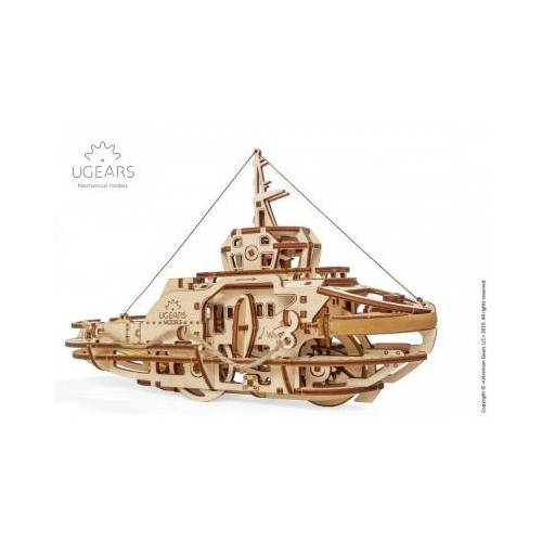 Ugears 3D Holzpuzzle - Tugboat 169 Teile Puzzle Ugears-12098