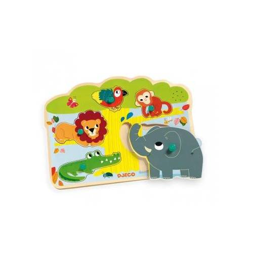 Djeco Holz-und Musical Puzzle - Holz-und Musical Puzzle 5 Teile Puzzle Djeco-01708