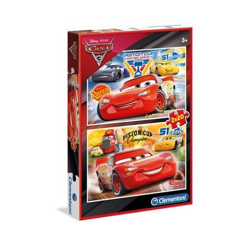 Clementoni 2 Puzzles - Cars 3 20 Teile Puzzle Clementoni-07027