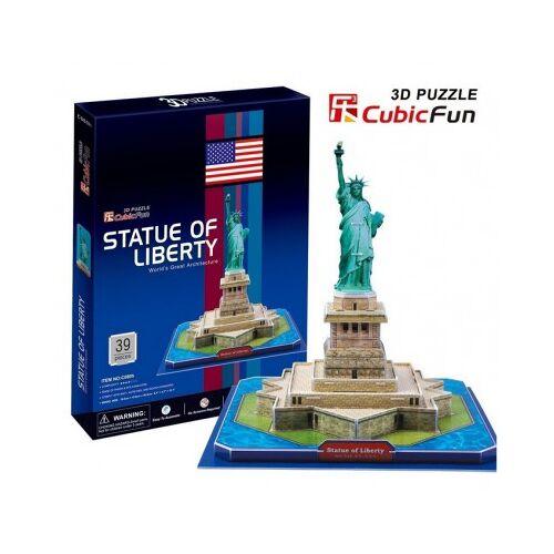 Cubic Fun 3D Puzzle - New York: Freiheitsstatue 39 Teile Puzzle Cubic-Fun-C080H