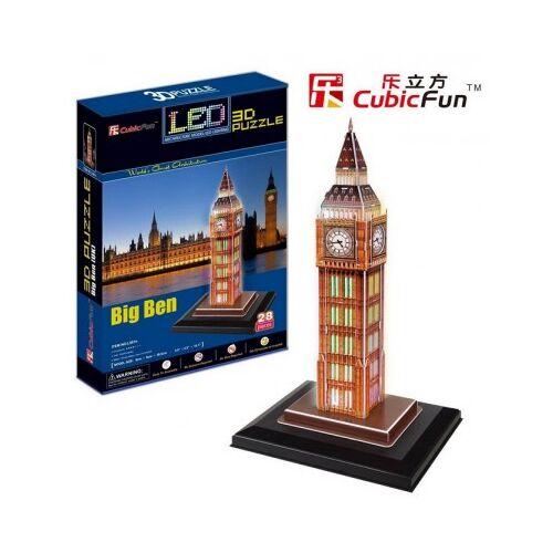 Cubic Fun Puzzle 3D mit LED - London: Big Ben 28 Teile Puzzle Cubic-Fun-L501H