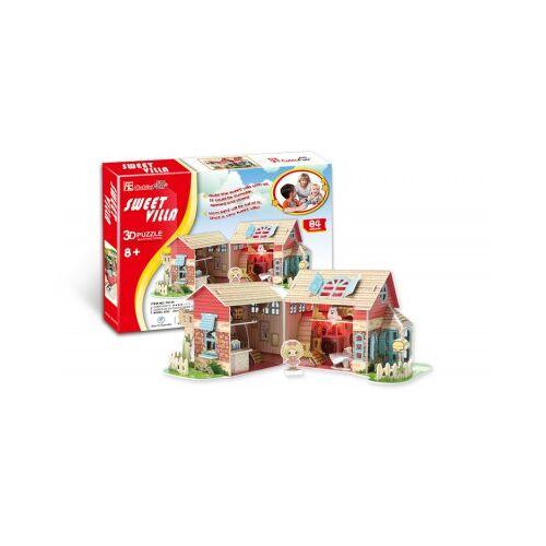 Cubic Fun 3D Puzzle - Puppenhaus (Schwierigkeit: 4/8) 84 Teile Puzzle Cubic-Fun-P615H