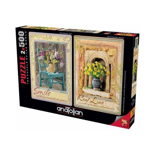 Perre / Anatolian 2 Puzzles - Smile - Real Love 500 Teile Puzzle Perre-Anatolian-3610