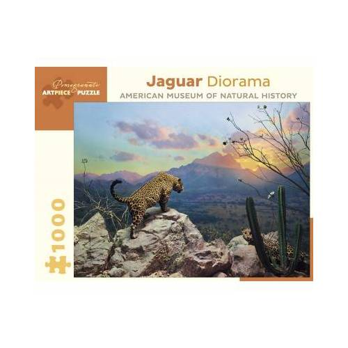 Pomegranate Jaguar Diorama - October at Sunset, Sonora, Mexico 1000 Teile Puzzle Pomegranate-AA956