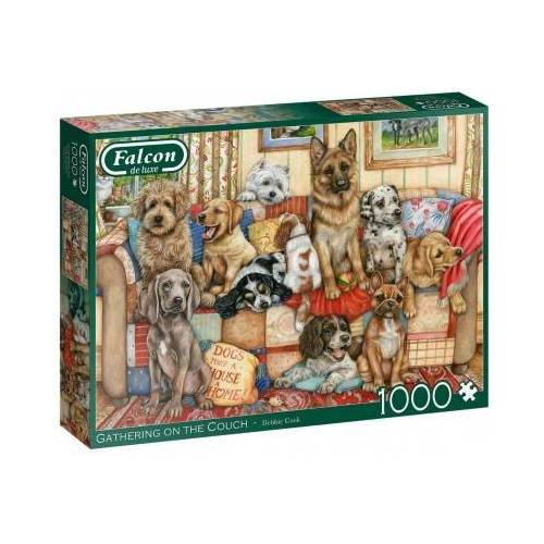 Falcon Gathering on the Couch 1000 Teile Puzzle Jumbo-11293