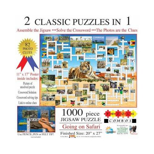 SunsOut Irv Brechner - Puzzle Combo: Going on Safari 1000 Teile Puzzle Sunsout-10170