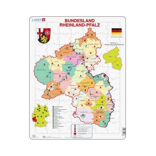 Larsen Rahmenpuzzle - Bundesland: Rheinland-Pfalz 70 Teile Puzzle Larsen-K26-DE
