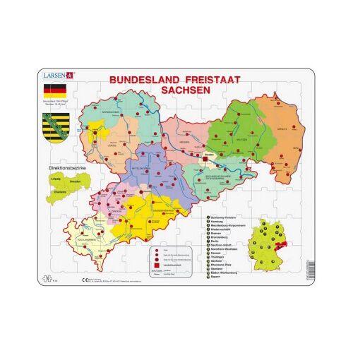 Larsen Rahmenpuzzle - Bundesland: Freistaat Sachsen 70 Teile Puzzle Larsen-K34-DE
