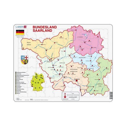 Larsen Rahmenpuzzle - Bundesland: Saarland 70 Teile Puzzle Larsen-K35-DE