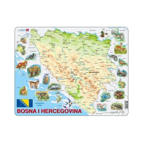 Larsen Rahmenpuzzle - Bosnien und Herzegowina und seine Tiere (auf Bosnisch) 57 Teile Puzzle Larsen-A20