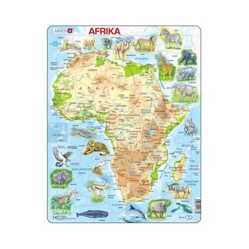 Larsen Rahmenpuzzle - Afrika und seine Tiere 63 Teile Puzzle Larsen-A22-DE