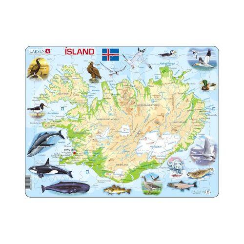 Larsen Rahmenpuzzle - Island (auf Isländisch) 81 Teile Puzzle Larsen-K7-IS