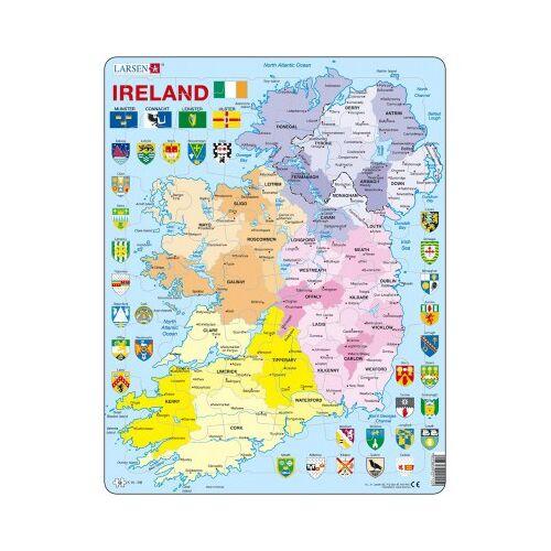 Larsen Rahmenpuzzle - Irland (auf Englisch) 48 Teile Puzzle Larsen-K15-GB
