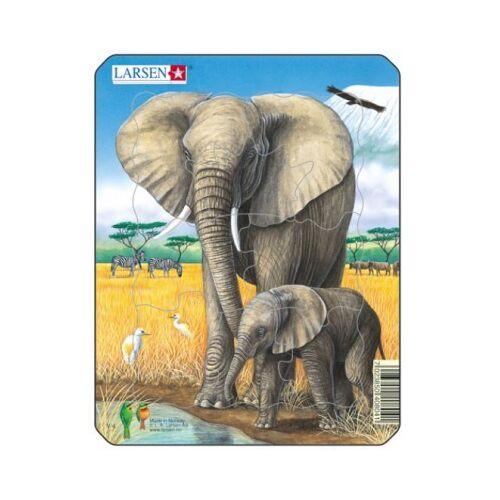 Larsen Rahmenpuzzle - Elefanten 8 Teile Puzzle Larsen-V4-3