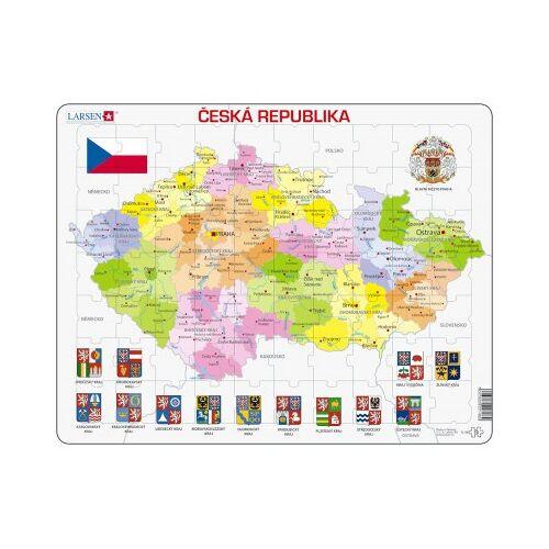 Larsen Rahmenpuzzle - Tschechische Republik (auf Tschechisch) 56 Teile Puzzle Larsen-K48-CZ