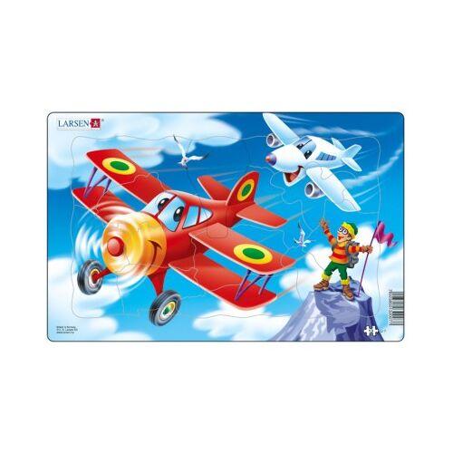 Larsen Rahmenpuzzle - Flugzeuge 13 Teile Puzzle Larsen-U7-2