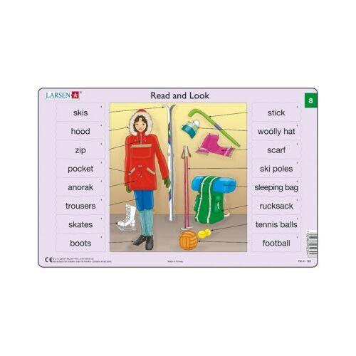 Larsen Rahmenpuzzle - Read and Look 8 (auf Englisch) 16 Teile Puzzle Larsen-xRA4-8